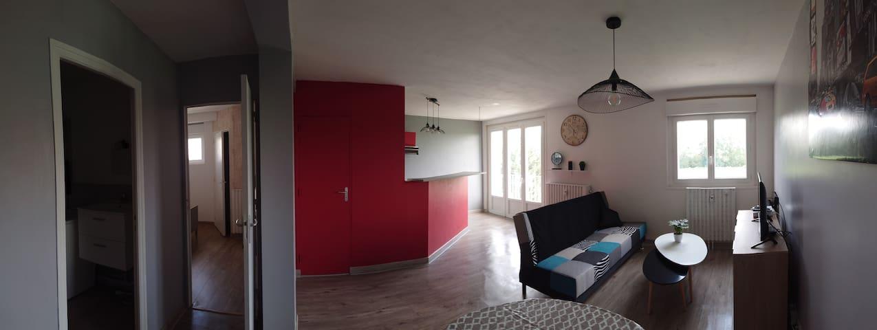 Appartement Calme avec Balcon en résidence
