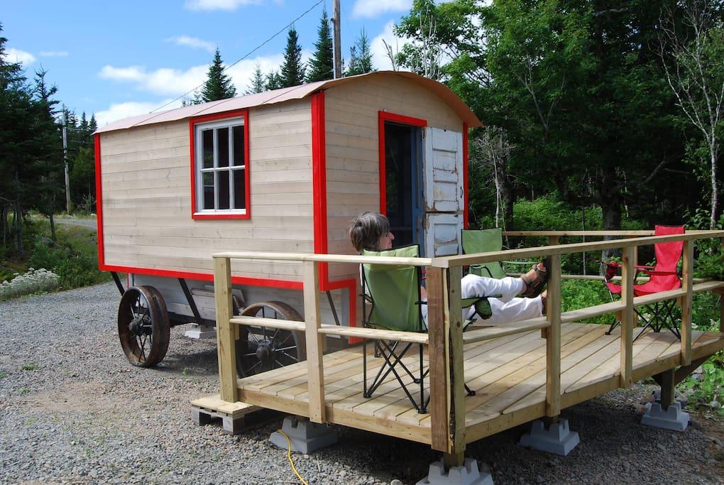 Gypsy wagon and deck