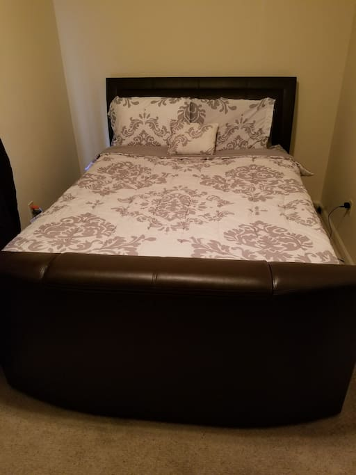 Private bedroom with queen bed, cable, and WiFi