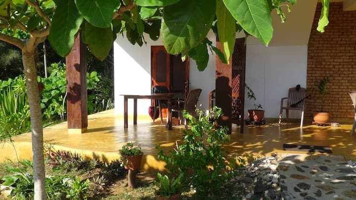 Private room in Tropical Garden on the beach