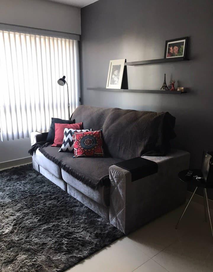 Apartamento confortável, perto de tudo