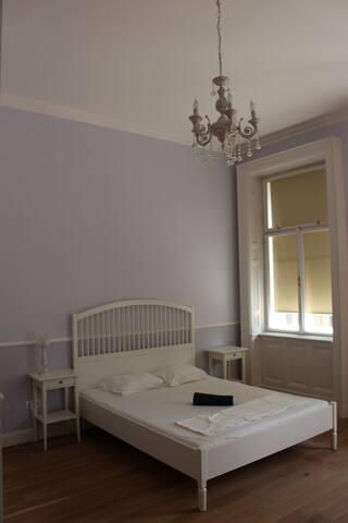 Fancy bedroom with ensuite bathroom