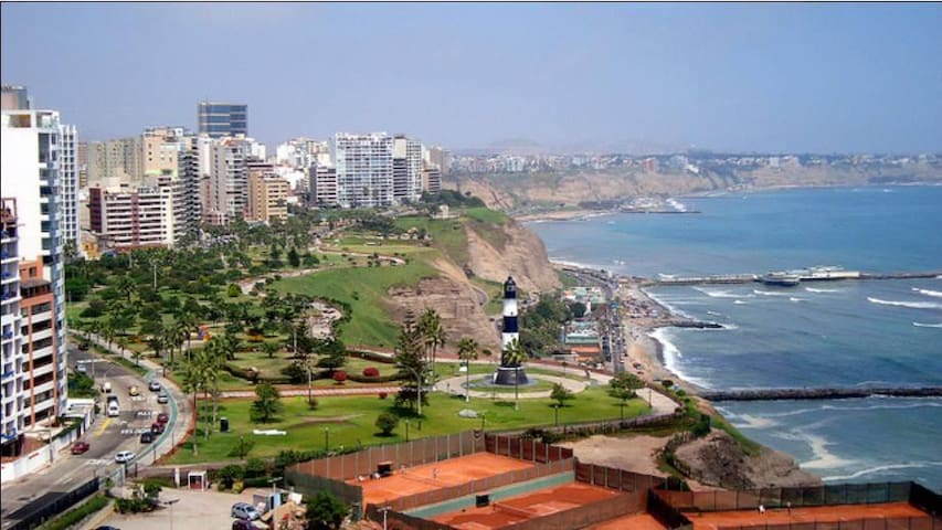 Wonderful Ocean View Apartment in Miraflores - Miraflores - Pis