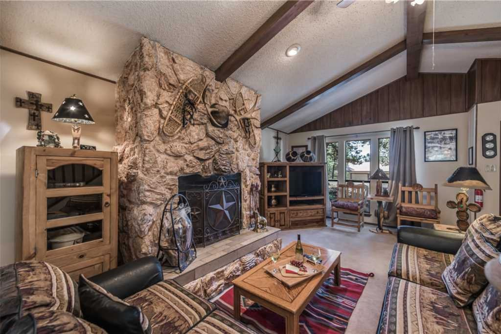 Enjoy a warm fire on a cool evening? -  With the fireplace, surrounded by comfortable seating you can have an enjoyable conversation with family on a cool night out.