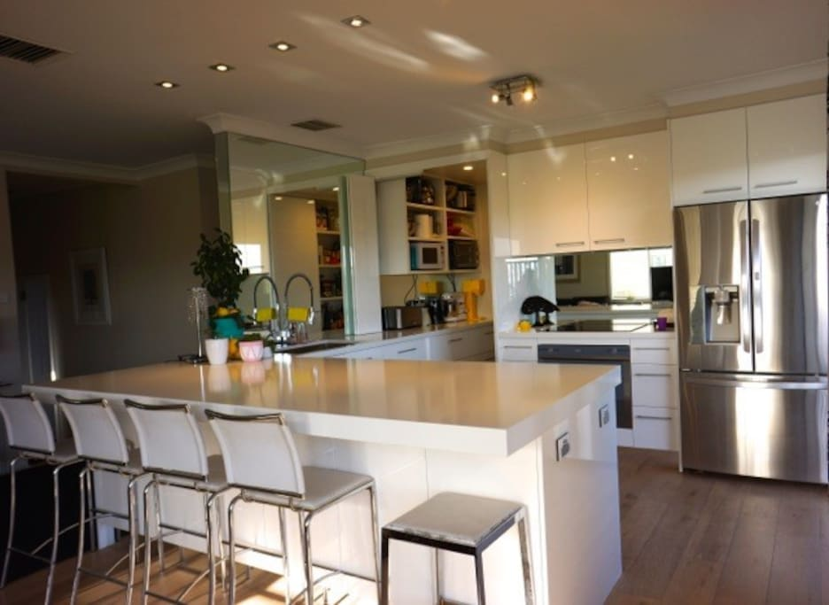 Kitchen with huge island