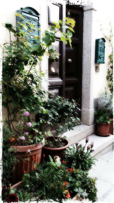 Main door of the building in via Mellini, Capoliveri (LI)