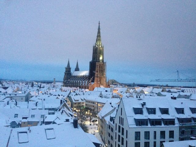 Nice apartment in Ulm center with Münster view