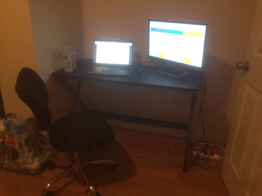 A big table and comfortable office chair. (Computer gear not included! :) )