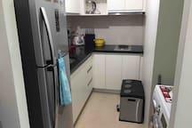 Refrigerator, Washing Machine with Dryer and Kitchen Needs