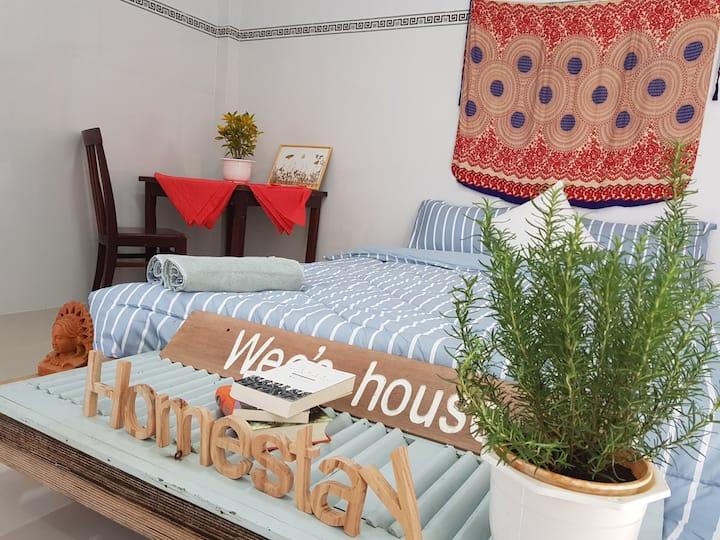 A cozy room in a small garden.