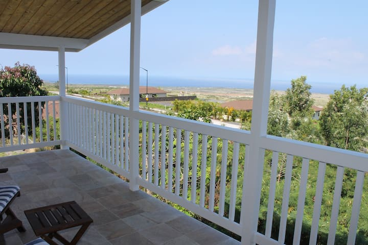 Ocean view from upper level lanai