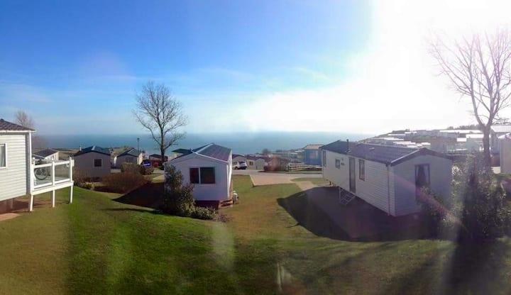 8 berth caravan at Devon Cliffs,Sea View,Drive