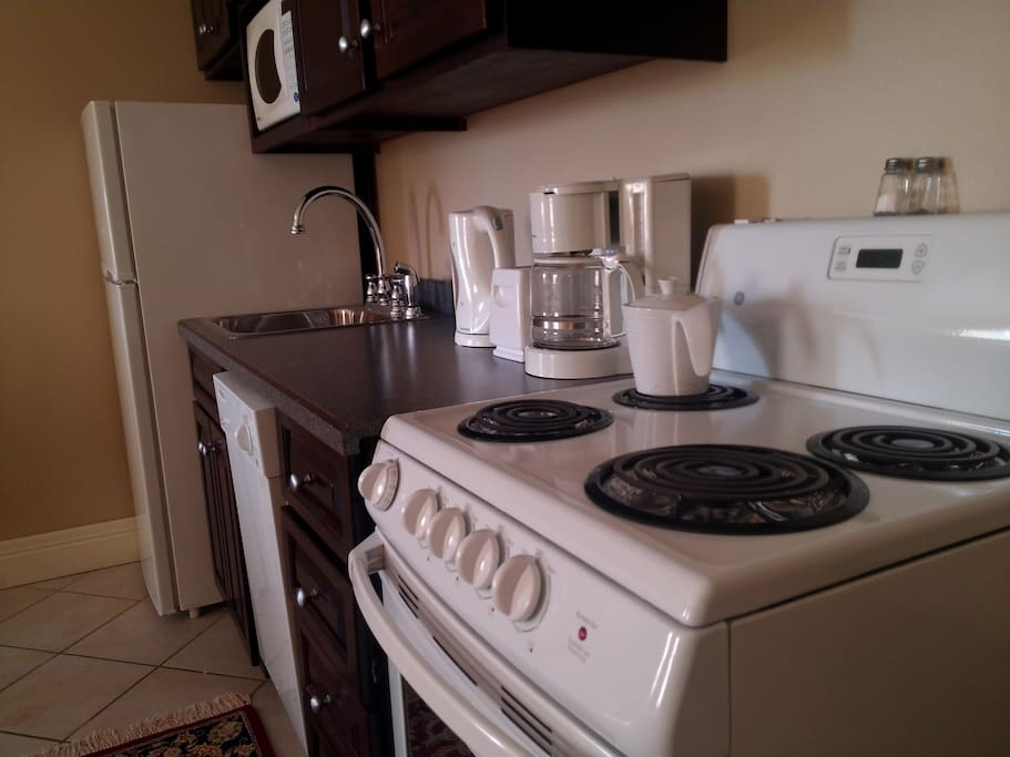 Well appointed kitchens or kitchenettes in every suite!