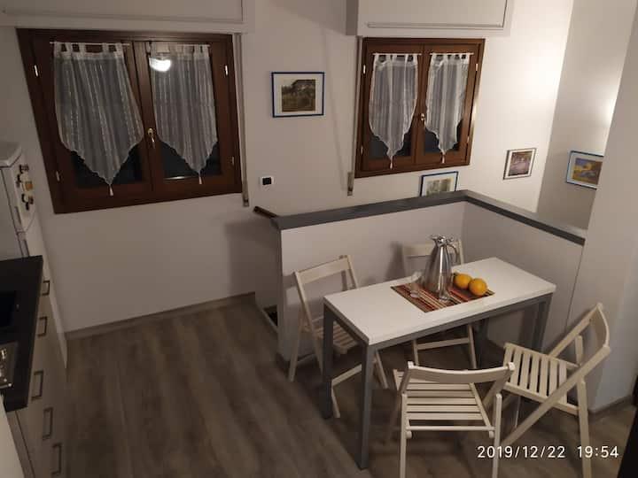 Appartamento in villa con giardino a 300m dal Lago