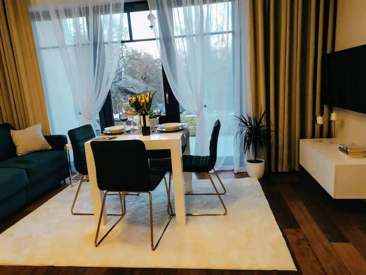Różana 2 - Apartament zielony