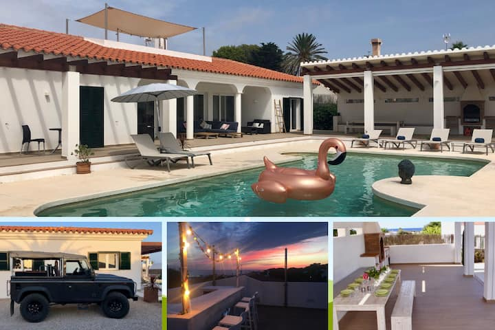 ***** VILLA with ROOFTOP bar, SEAVIEWS & DEFENDER