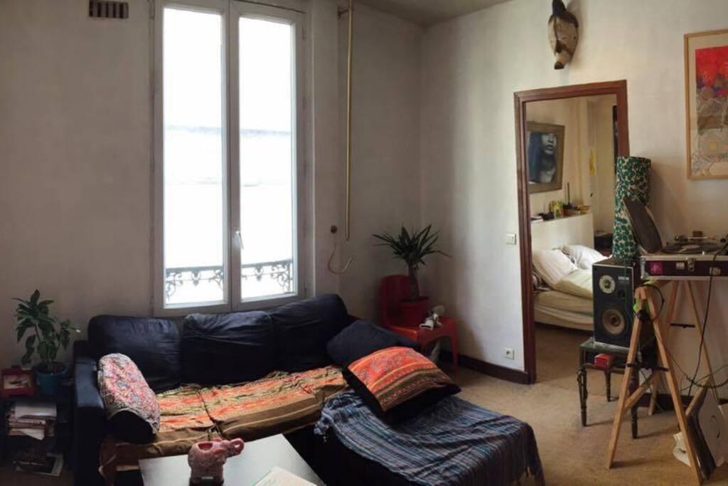 Petit salon (1 canapé lit)
