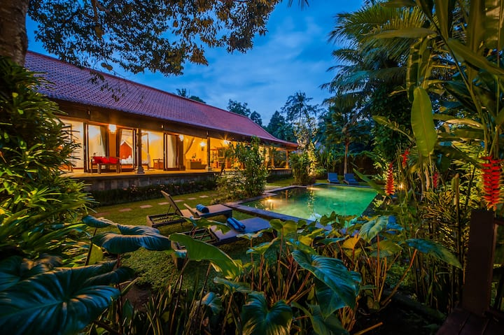 """75% OFF""  Jungle View 3 BR Aashaya Villa, Ubud"