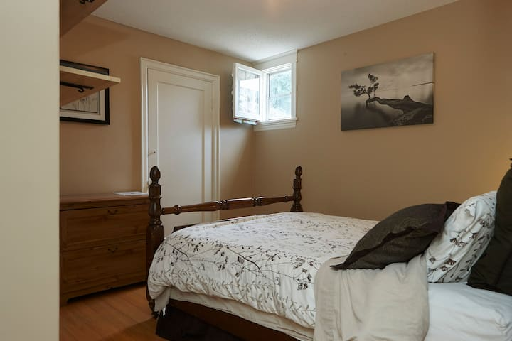 Queen bed in Gage Park Century Home
