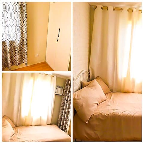 Smaller airconditioned room with pull out bed, accommodates 2