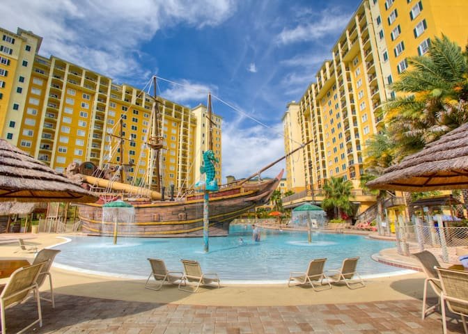 Spacious Suite + Pirate Themed Pool Experience | Theme Park Shuttles
