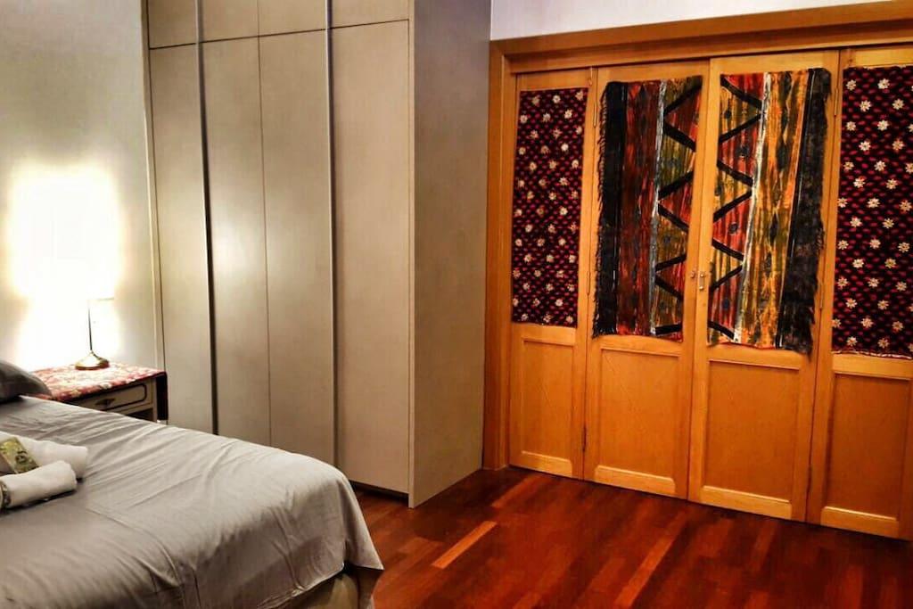 Cupboard space and door view