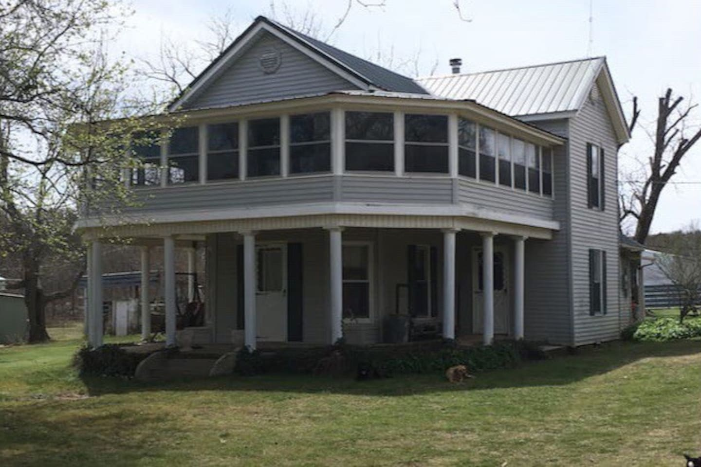 View of the house as you drive up