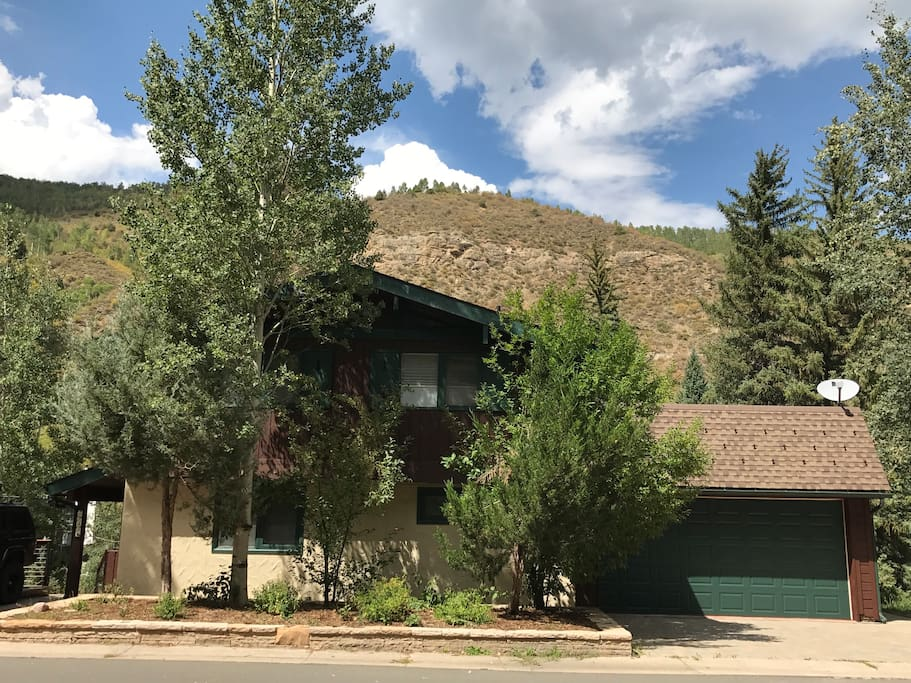 Our cute little house in West Vail lies on a quiet street in a residential neighborhood, with easy bus access into town.