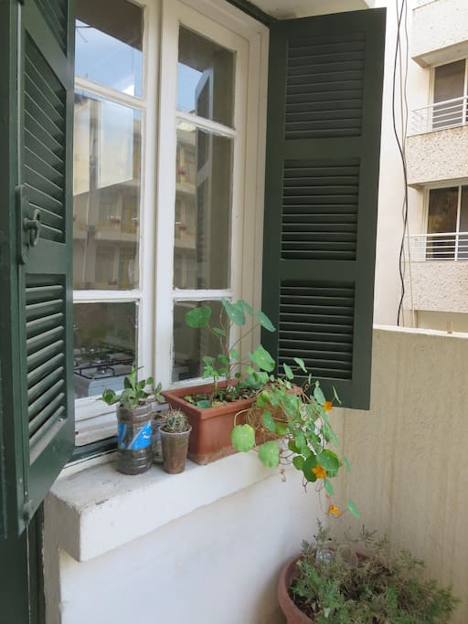 the same balcony