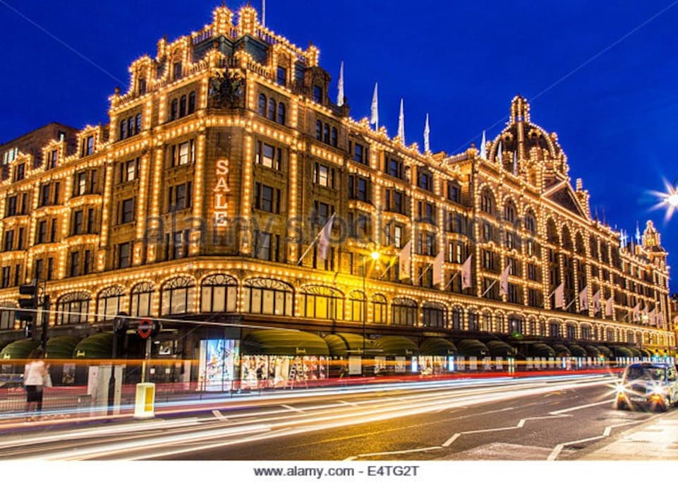 Harrods which is right next to the flat