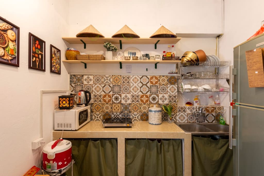 The kitchen corner of Hanoi, neat and tidy with full kitchen for you to prepare simple meals