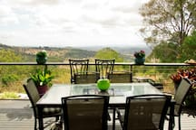 Panoramic views over the Lockyer valley from the deck.