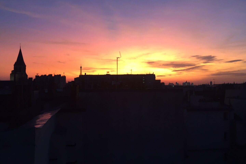 La vue de notre toit