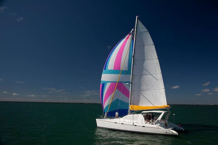3 bedroom 47 foot Sailing Catamaran - Edgartown - Boot