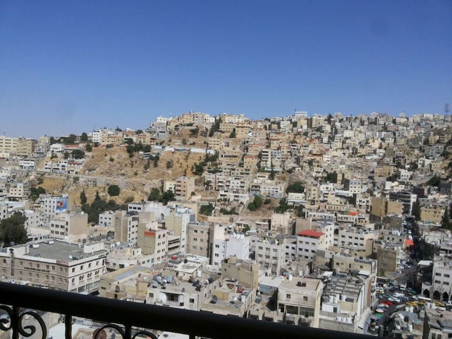 Private Balcony View to Downtown Amman