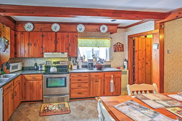 Utilize the fully equipped kitchen to whip up your favorite recipes.