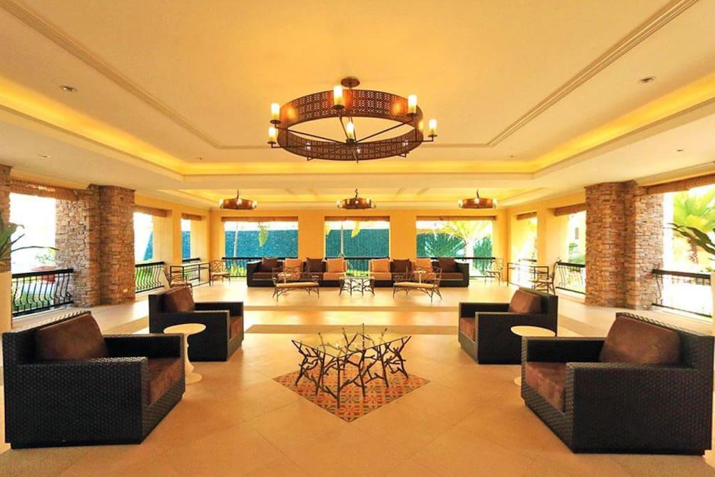 Spacious Club House Lobby