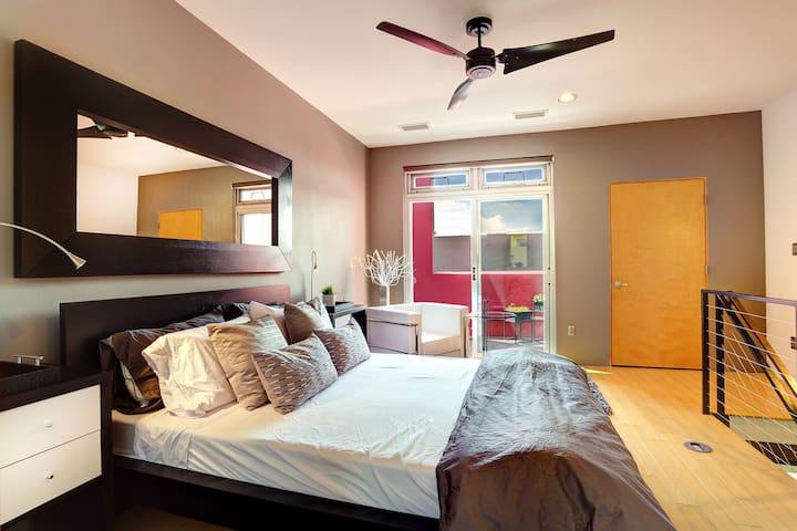 Luxurious 4th floor Master Bedroom en-suite includes private balcony, walk-in closet, laundry room & spa-like bathroom