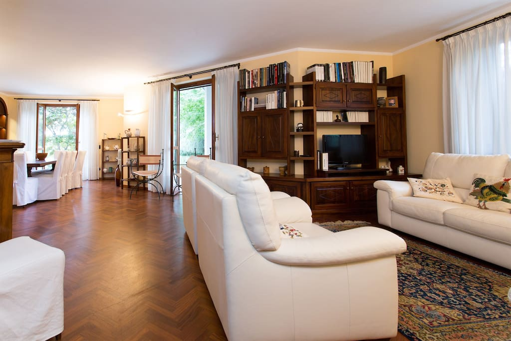 The interior of the villas is particularly light and spacious