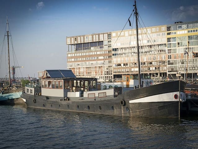 Historical ship near city center