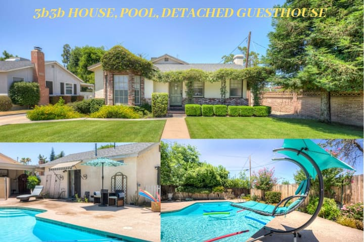 Downtown Estate/Retreat - Home, Pool, Guest House!