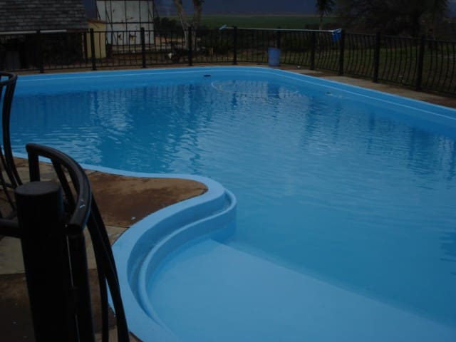 Big pool to tan and cool you off on the very hot days.