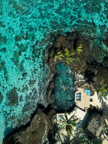Ariel view of the Infinity Pool and reef