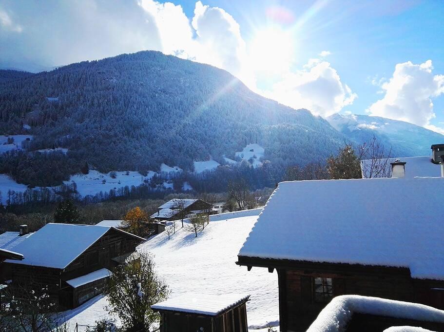 November 2016 - herrlich der erste Schnee, Vorboten eines gute Winters.