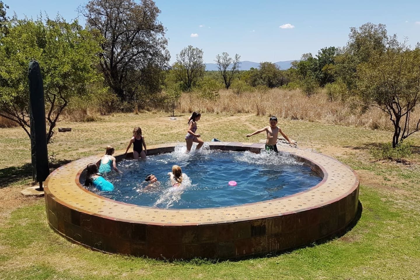 Your own plunge pool in the bush! With more than enough room for a couple of bodies and the perfect place to watch the sun go down.