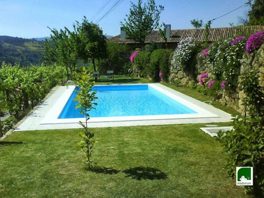 Zona envolvente e piscina