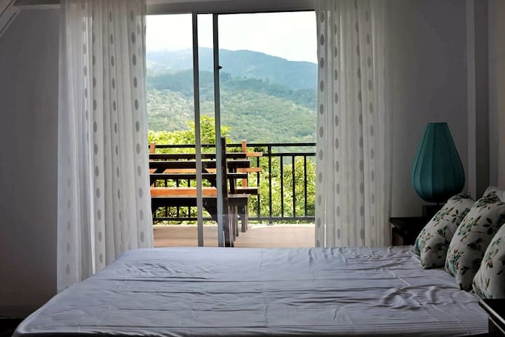First floor bedroom with an amazing view