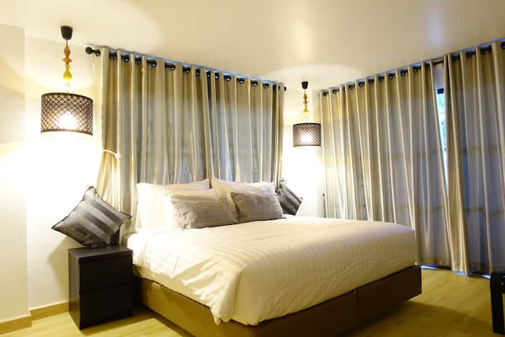 1King&1single bed(separated room)