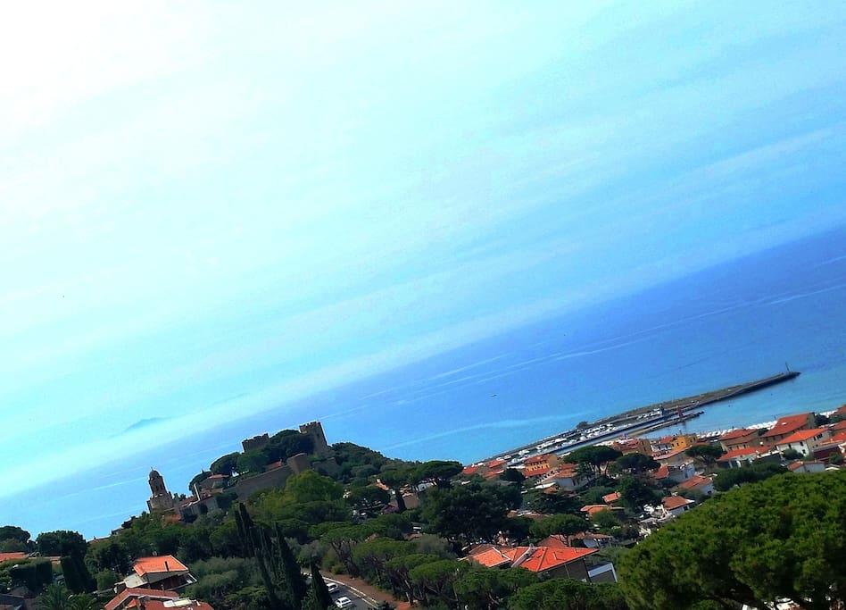 Panorama di Castiglione della Pescaia