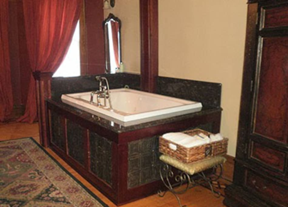 large jetted tub in suite